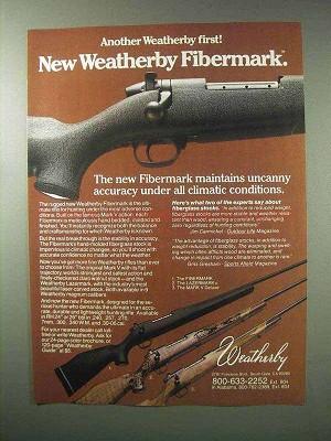 1983 weatherby fibermark lazermark mark v rifle ad