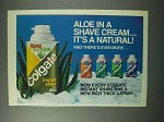 1983 Colgate Instant Shave Cream Ad - Aloe It's Natural