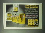 1983 Eveready Rechargeable Batteries Ad - Remarkable