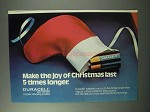 1983 Duracell Batteries Ad - Make Joy Of Christmas Last