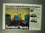 1983 Eureka! Space Tent Ad - Luxury of Space