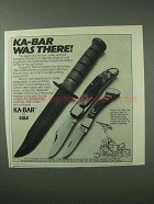 1983 Ka-Bar Knives Ad - Ka-Bar Was There!