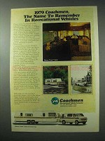 1979 Coachmen Ad - Deluxe Travel Trailer, Travel Van