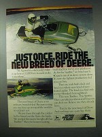 1978 John Deere Spitfire Snowmobile Ad - New Breed