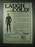 1978 Damart Underwear Ad - Laugh at the Cold