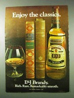 1978 E&J Brandy Ad - Enjoy the Classics