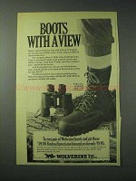 1978 Wolverine Boots Ad - Boots With A View