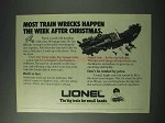 1978 Lionel O-Gauge Train Set Ad - Most Train Wrecks