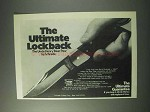 1978 Schrade Bear Paw LB7 Knife Ad - The Ultimate