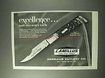 1978 Camillus No. 7 Cam-Lok Knife Ad - Excellence