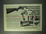 1978 Charter Arms Ad - AR-7 Explorer Rifle, Skatchet