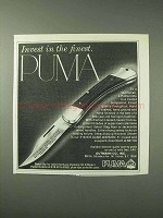 1978 Puma #16-970 Game Warden Knife Ad - Invest