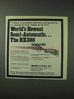 1978 Heckler & Koch HK300 Rifle Ad - Semi-Automatic