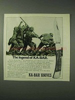1978 Ka-Bar Knives Ad - Legend of Ka-Bar