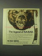 1978 Ka-Bar Knives Ad - The Legend of Ka-Bar