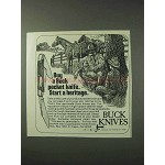 1978 Buck Knives Ad - Start a Heritage