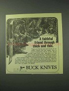 1978 Buck Knives Ad - Through Thick and Thin