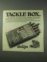 1978 Slim Jim Meat Snacks Ad - Tackle Box