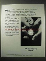 1986 Patek Philippe Watch Ad