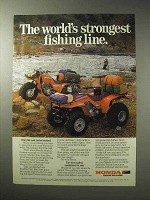1986 Honda Big Red and FourTrax 250 ATV Ad