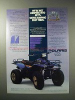 1986 Polaris Trail Boss 250 ATV Ad - Jumping Past Them