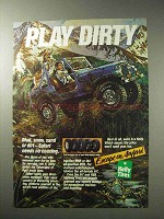 1986 Kelly Tires Ad - Play Dirty!