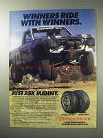 1986 Kelly Tires Ad - Manny Esquerra