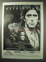 1986 Revolution Movie Ad - Al Pacino