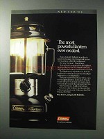 1986 Coleman Powerhouse Lantern Ad - Most Powerful