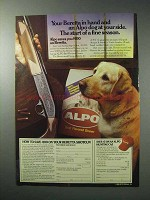 1986 Alpo Dog Food Ad - Your Beretta in Hand