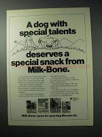 1986 Milk-Bone Dog Biscuits Ad - Special Talents