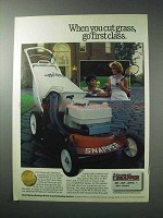 1986 Snapper Lawn Mower Ad - Cut Grass First Class