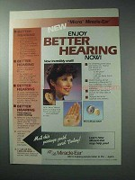 1986 Micro Miracle-Ear Hearing Aid Ad - Better Hearing