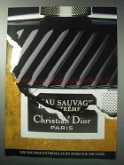 1986 Christian Dior Eau Savage Extreme Cologne Ad