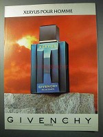 1986 Givenchy Xeryus Cologne Ad - Pour Homme