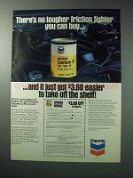 1986 Chevron Custom Motor Oil Ad - Friction Fighter
