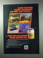 1986 Chevron Custom Motor Oil Ad - Hard Drivers