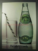 1986 Perrier Ad - Mineral Water with a Twist of Lime