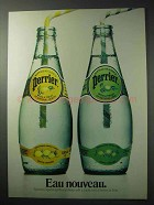 1986 Perrier Sparkling Mineral Water Ad - Twist of Lime
