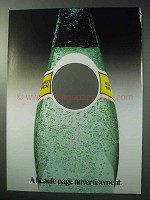 1986 Perrier Sparkling Mineral Water Ad - Heaule Page