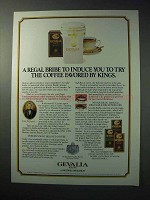 1986 Gevalia Coffee Ad - A Regal Bribe to Induce You