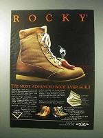 1986 Rocky Boots Ad - The Most Advanced Ever