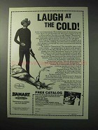 1986 Damart Underwear Ad - Laugh at the Cold