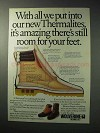 1986 Wolverine Thermalite Boots Ad - Room for Feet