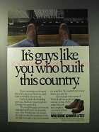1986 Wolverine Work-Lite Boots Ad - Built This Country