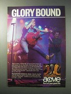 1986 Acme Boots Ad - Glory Bound