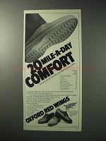 1986 Red Wing Oxford Shoes Ad - 20 Mile-a-Day Comfort