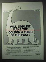 1986 British Telecom Ad - Linkline Make Coupon The Past