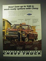 1986 Chevy C10 Pickup Truck Ad - Work-Ready Options