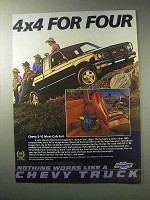 1986 Chevy S-10 Maxi-Cab 4x4 Pickup Truck Ad - For Four